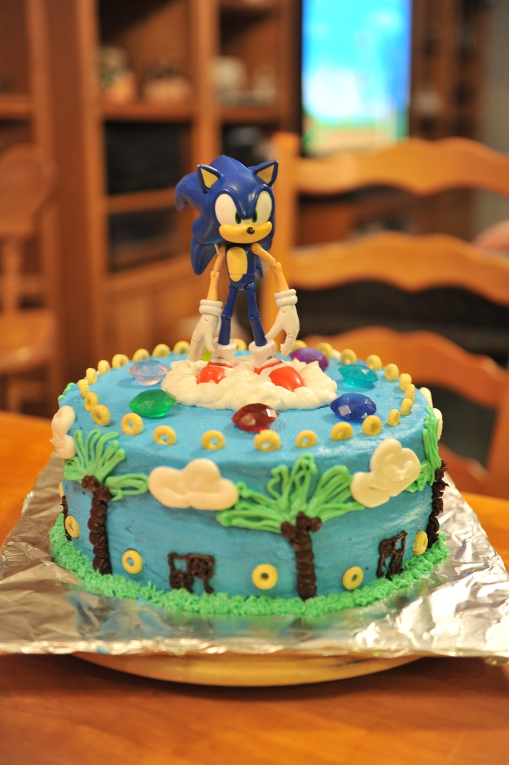 Sonic Birthday Cake Inspired By A Cake On Cakecentral Com