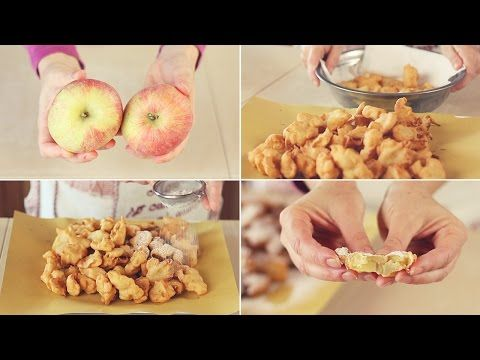 FRITTELLE DI MELE DOLCI Ricetta Facile - Apple fritters Easy Recipe - YouTube