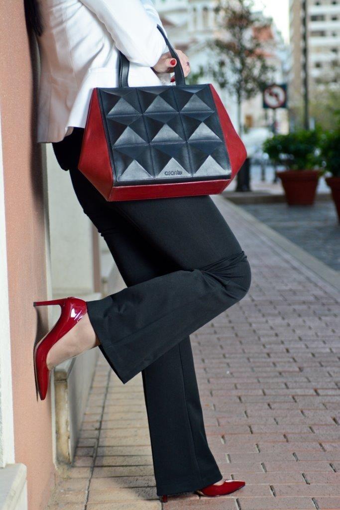 "Three dimensional tote from ""asante"" Lebanese designer"