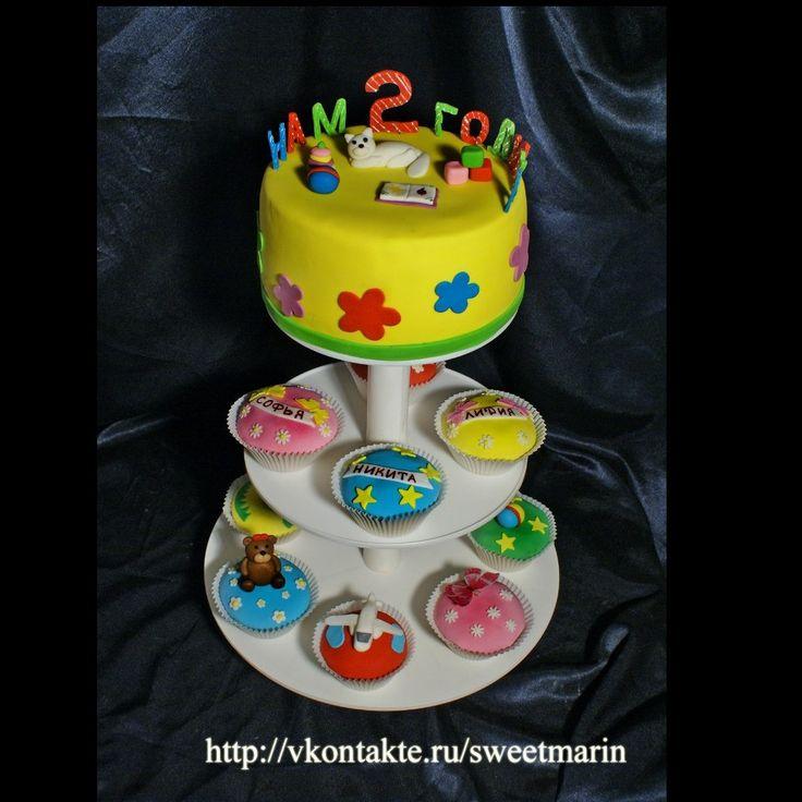 Капкейки и детксие торты   Торты на заказ в Петербурге