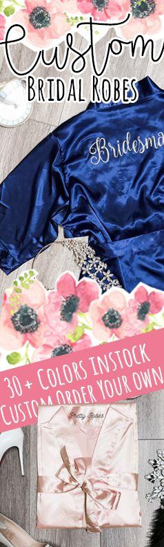 Custom Bridesmaid Robes, Custom Bridal Robes, Custom Robes, Satin Robes, Kimono Robes, Personalized Robes, Wedding robes