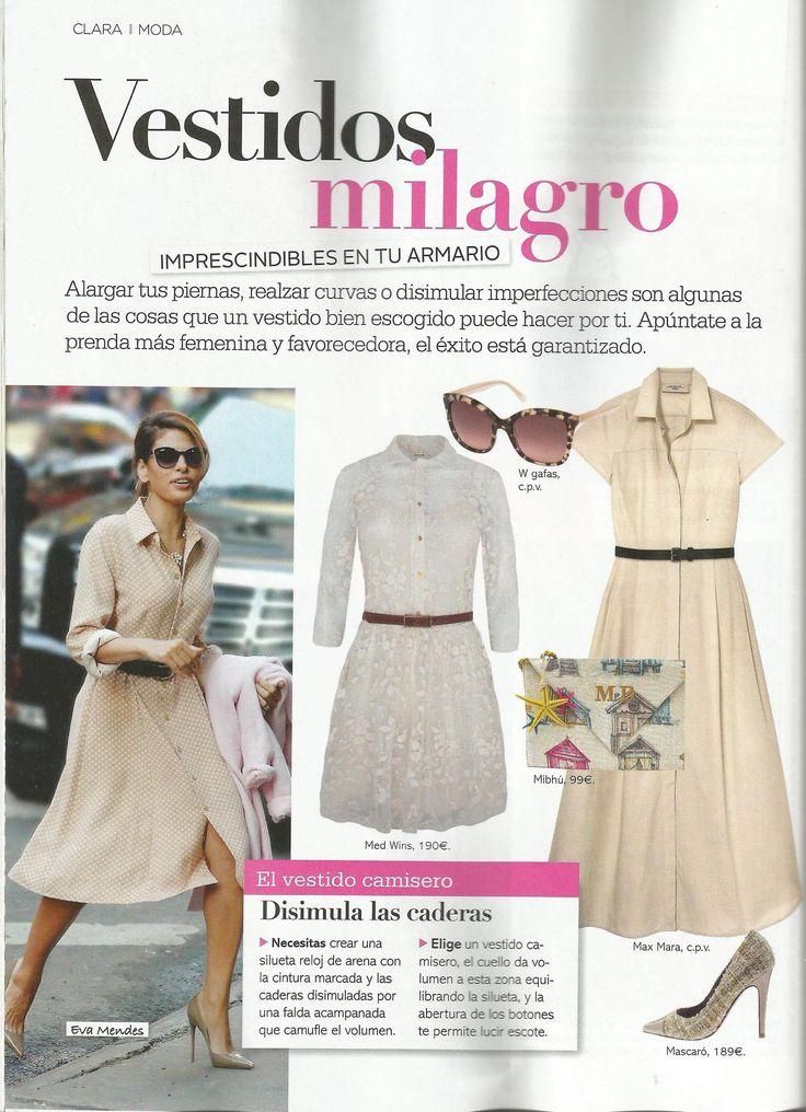 Vestido Diafanis de Med winds en la revista Clara Mayo 2016