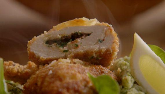 Jamie Oliver Chicken Kiev recipe on Jamie's Comfort Food