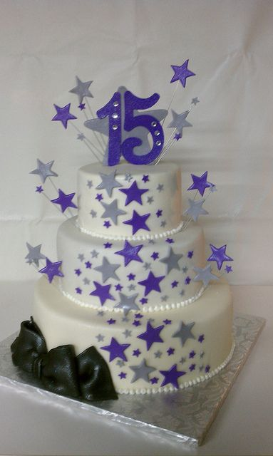 QUINCEANERA CAKES | Ali's Quince Cake Stars Theme | Flickr - Photo Sharing!