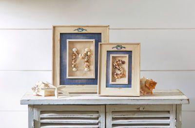 Make Market côtier : Cadre avec initiale en coquillages