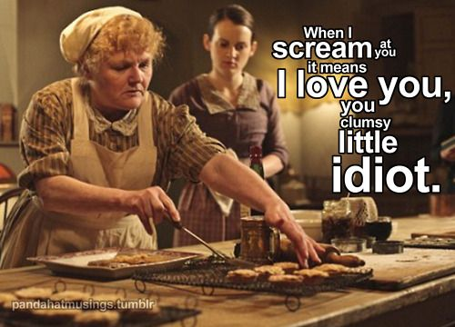 Mrs. Patmore and Daisy on Downton Abbey