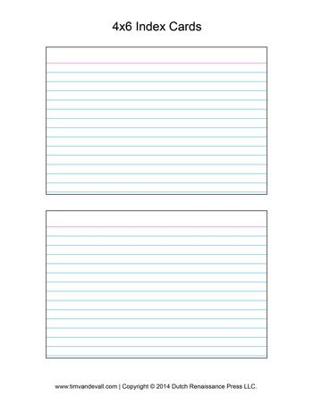 lined index card template
