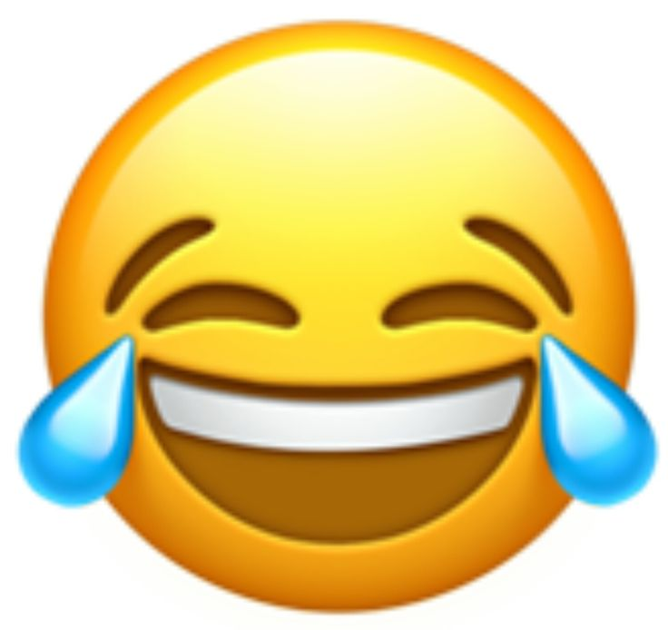 This emoji is laughing so much that it is crying tears of joy.  This emoji has been in the top 10 most popular emojis.