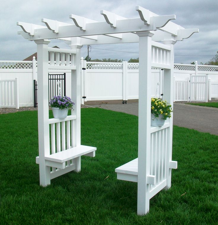 48 best images about bench and arbor on pinterest for Garden decking with gazebo
