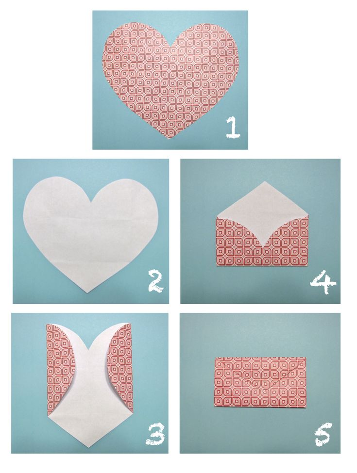 Heart envelopes, quite clever.