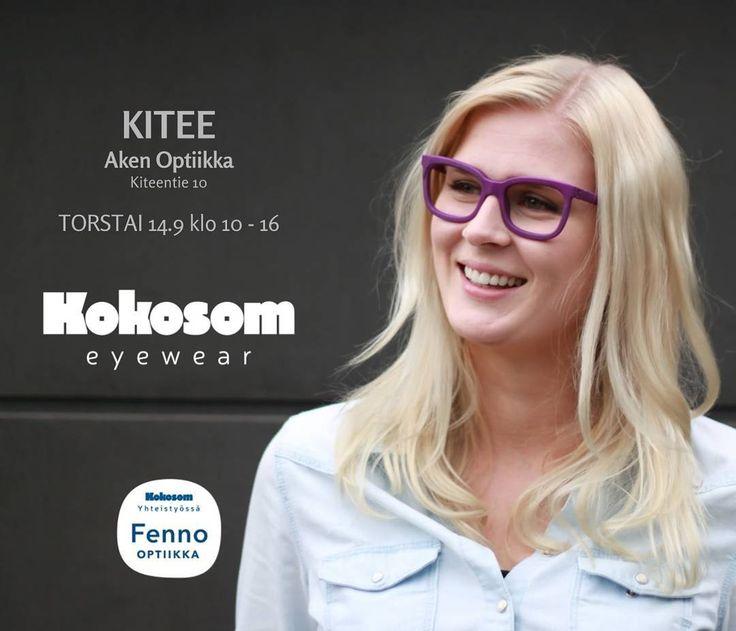 Next stop Kitee! Tule sovittamaan Kokosom Eyewear kehyksiä Aken Optiikkaan #kitee  #kokosomeyewear #fennooptiikka
