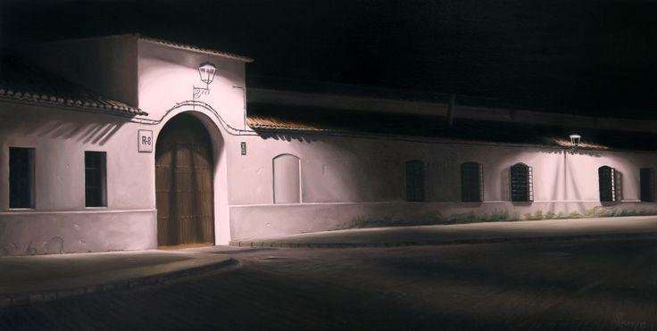 """La Feria""(II). Óleo sobre tabla. 80x40cm."