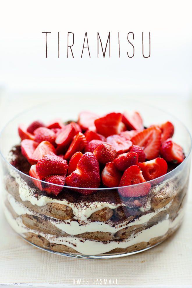 Tiramisu & strawberries