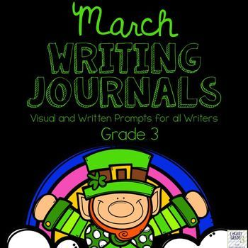 This unit has everything you need to tackle Journal writing for the entire month of March.  It is designed to make it quick and easy for you and your elementary students to complete your journal writing block with as little prep time as possible!