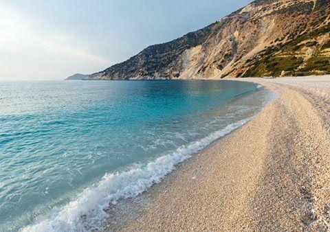 Plaja Myrtos din Kefalonia. Oferte Grecia aici: