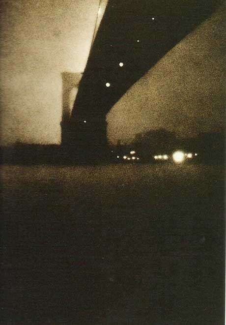 bridge/ by Edward Steichen  (March 27, 1879 – March 25, 1973) was an American photographer, painter, and art gallery and museum curator.