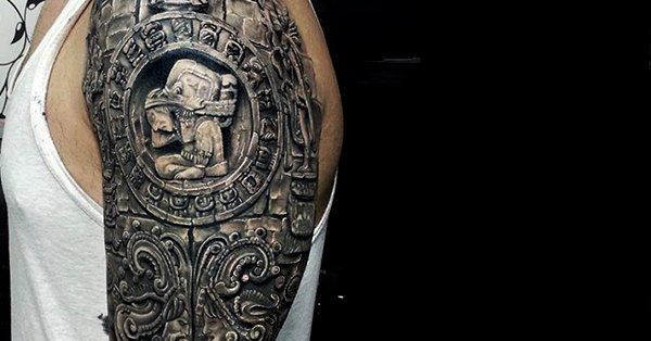 mexican style tattoos the o 39 jays aztec designs and aztec. Black Bedroom Furniture Sets. Home Design Ideas
