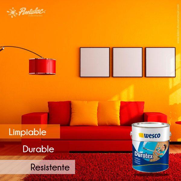 ¿#Sabías Que Duratex de #Wesco es una pintura arquitectónica 100% Limpiable, durable y resistente, ideal para decorar y proteger tus paredes?