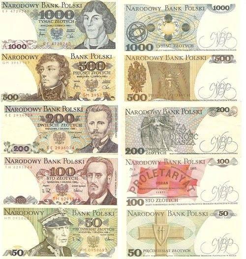 Banknoty z PRL. Kto jeszcze pamieta? Old Polish money.