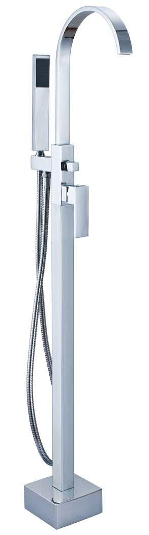 """Formschön und besonders elegant präsentiert sich die Standarmatur """"Lago di Loppia"""" mit ihrer ganz außergewöhnlich eleganten Form. Der massive und schwer anmutende eckige Sockel in Kombination mit der gerundeten Hahnform lassen diese Armatur sowohl neben eckigen als auch neben runden Badewannen besonders gut zur Geltung kommen. http://www.baedermax.de/standarmaturen/lago-di-loppia-5.html"""