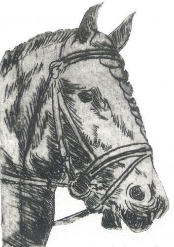 Hűtőmágnes - Ló