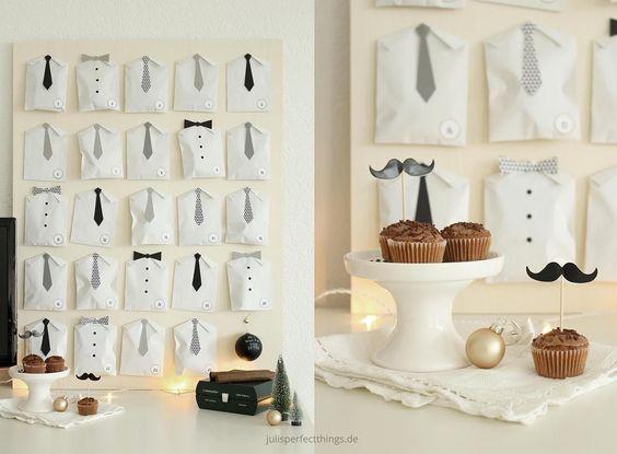 DIY advent calendar for men