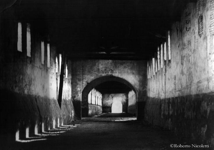 Castello sforzesco di Vigevano (PV, Italy). Si tratta della strada coperta che…