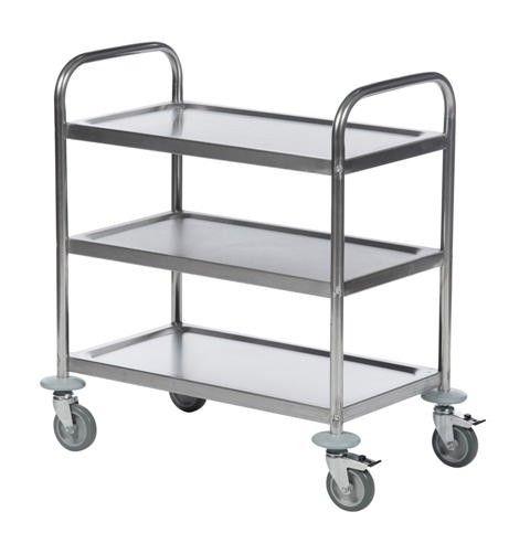GTARDO.DE:  Tischwagen, 3 Etagen, Tragkraft 100 kg, Ladefläche 825x500 mm, Maße 910x590 mm 242,00 €