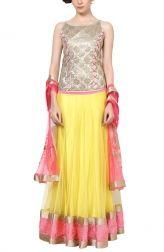 Indian Fashion Designers - Manpreet Kaur - Contemporary Indian Designer Clothes - Lehengas - RC-SS15-DRS-22 - Vibrant Embellished Lehenga