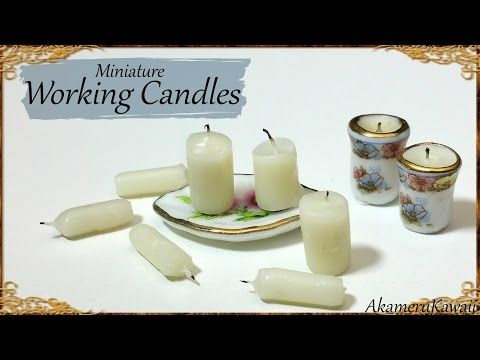 Miniature Candles that work! Dollhouse Tutorial - YouTube