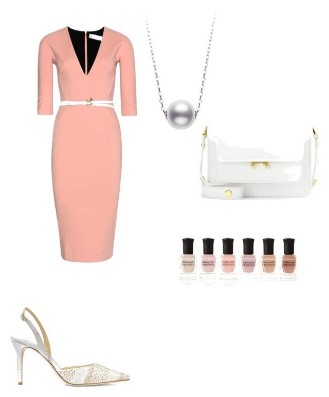 Spring work outfit by the925editor on Polyvore featuring Victoria Beckham, Jimmy Choo, Marni and Deborah Lippmann