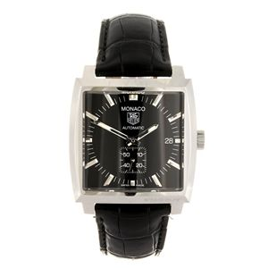 LOT:225 | A stainless steel automatic gentleman's Tag Heuer Monaco wrist watch.