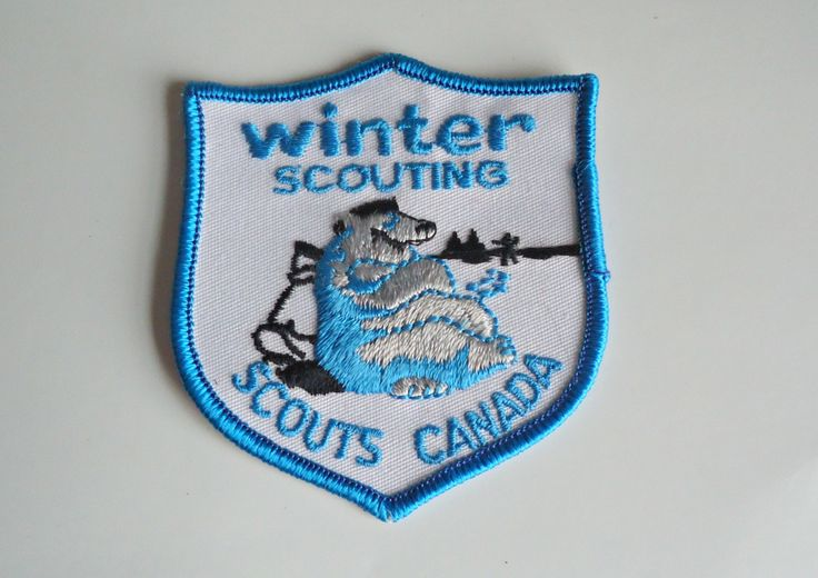 Vintage Boy Scouts Patch Winter Scouting Scouts Canada Embroidered Badge 1980's by treasurecoveally on Etsy