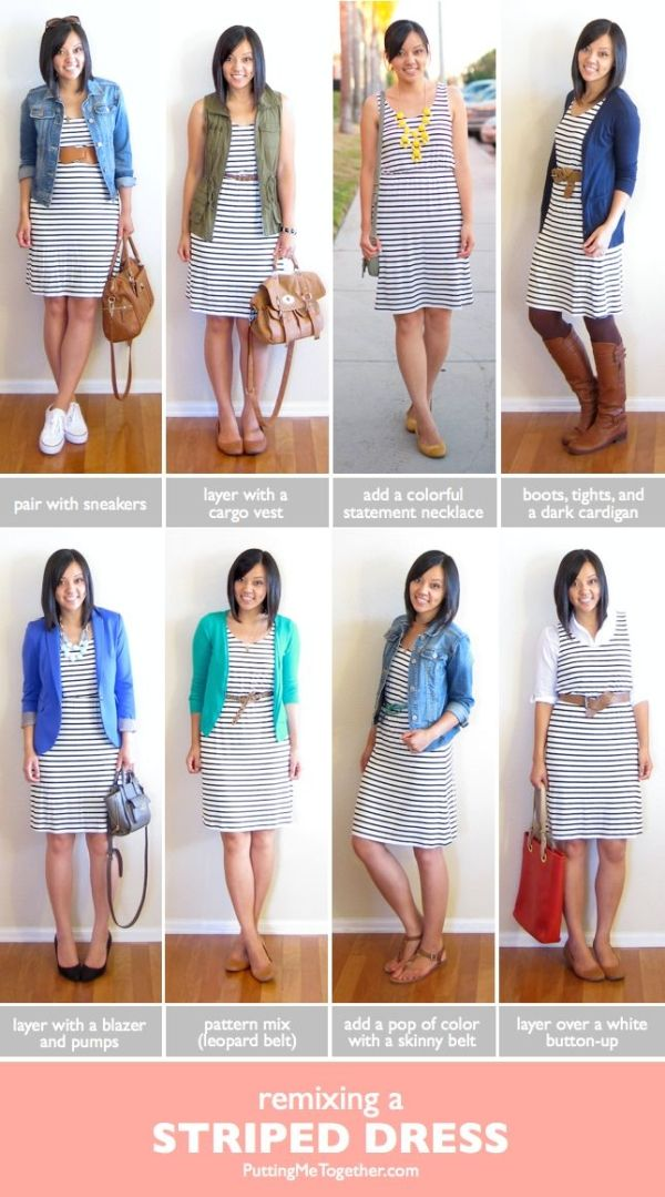 Ways to Remix a Striped Dress & THIS DRESS IS BACK IN STOCK! - Putting Me Together by doreen.m