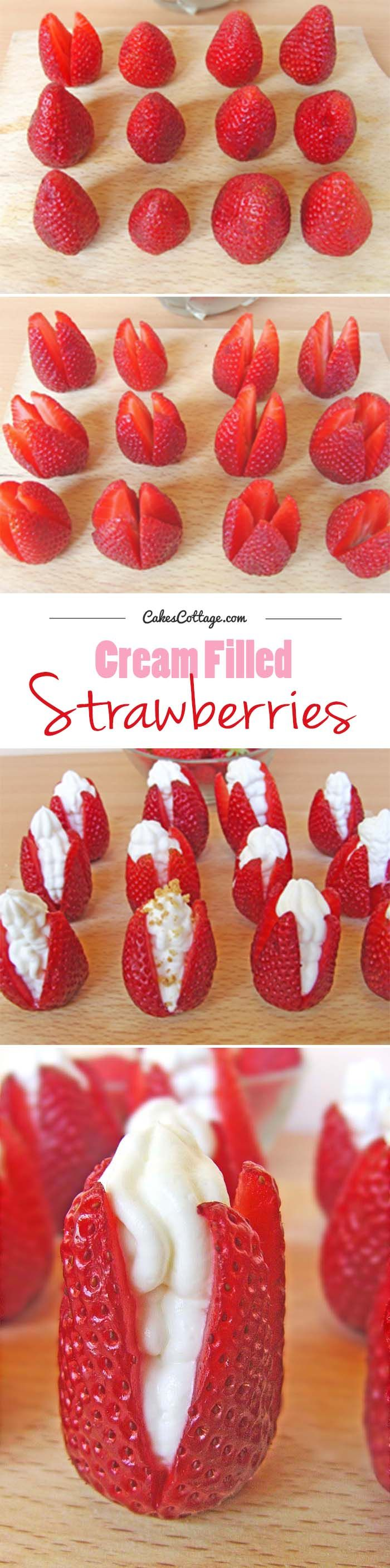 Delicious and unique way to serve the fresh strawberries. #strawberries