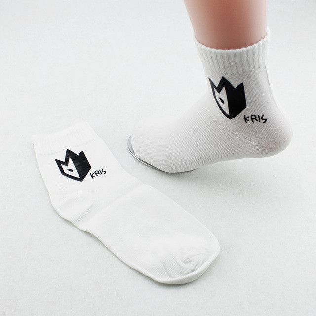 Youpop KPOP EXO EXO-K EXO-M XOXO Album BobbySocks Sock K-POP Cotton Sox Men And Women Boy Girl Male Female Boat Socks & Hosiery
