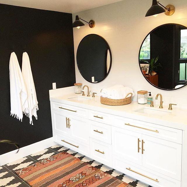 Best 20  Bathroom rugs ideas on Pinterest Loving these bathroom details  Also this weeks favorite finds are up on the  blog . Black And Gold Bathroom Rugs. Home Design Ideas