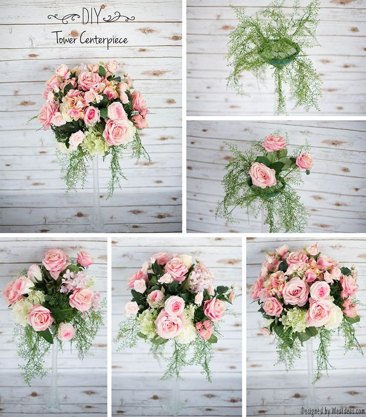 What Youll Need To Create Your Own Tower Centerpiece You Will Floral Foam A Vase The Plastic Container For