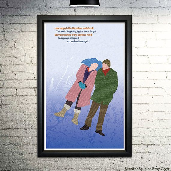 Eternal Sunshine Typographical Art Print by SkahfeeStudios on Etsy