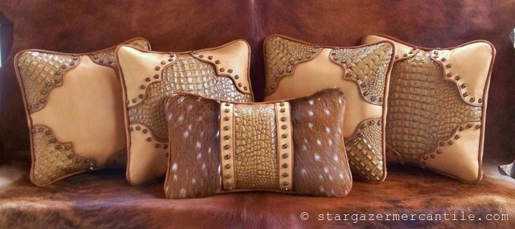 Faux Deer Hide Pillows : 37 best faux leather, suede, etc fabric items images on Pinterest Leather pillow, Tooled ...