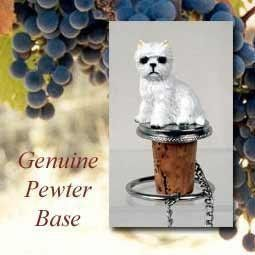 "NEW! Westie Cork Bottle Buddy Wine Stopper by Conversation Concepts. $12.95. Your favorite dog will be the toast of the town on these pewter-base, cork bottle stoppers, designed to fit any standard bottle. Each comes with it's own velvet drawstring pouch - ideal for gift giving!  Appx. 3 to 3 1/2"" tall. Please note that these are custom order items. Due to the wide assortment available you should allow between ten days and four weeks for delivery.  We will do our best to ..."