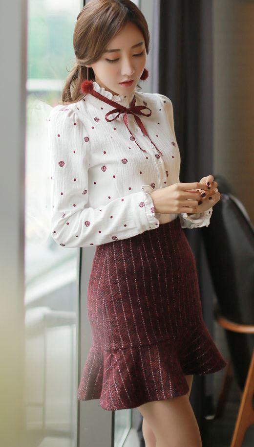 Styleonme_No. 34721 #blouse #ribbon #feminine