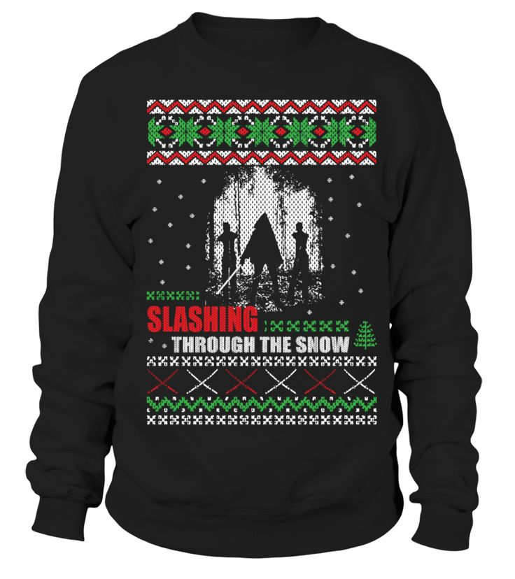 Slashing Through The Snow Ugly Sweater #gift #idea #shirt #image #music