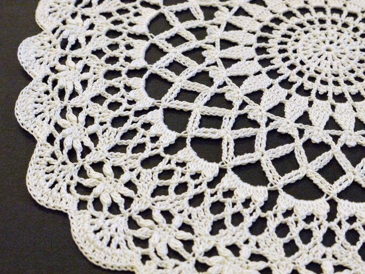 The Angel Garden doily - Japanese charted pattern