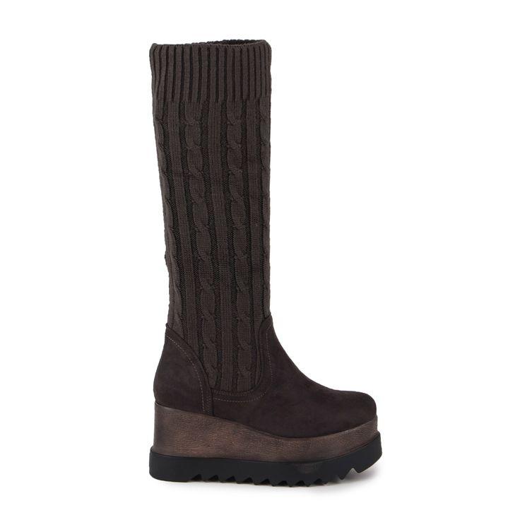Mπότες γκρι κάλτσα σουέτ και πλεκτές Από €39,99 ΤΩΡΑ €29,99!