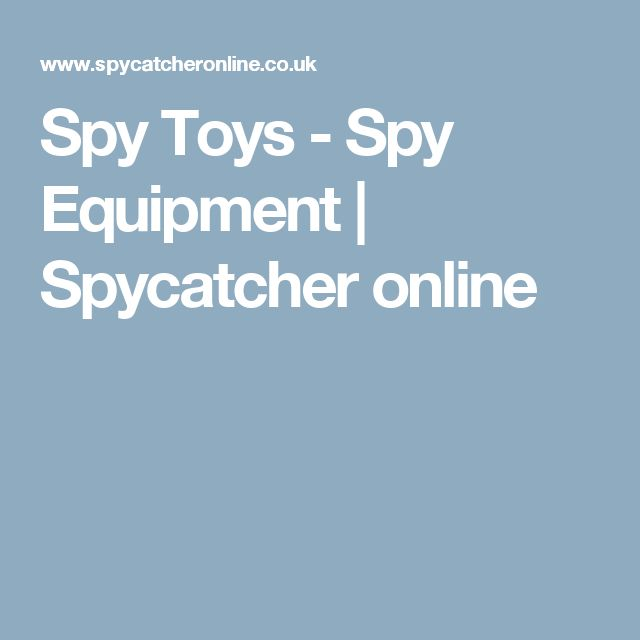 Spy Toys - Spy Equipment | Spycatcher online