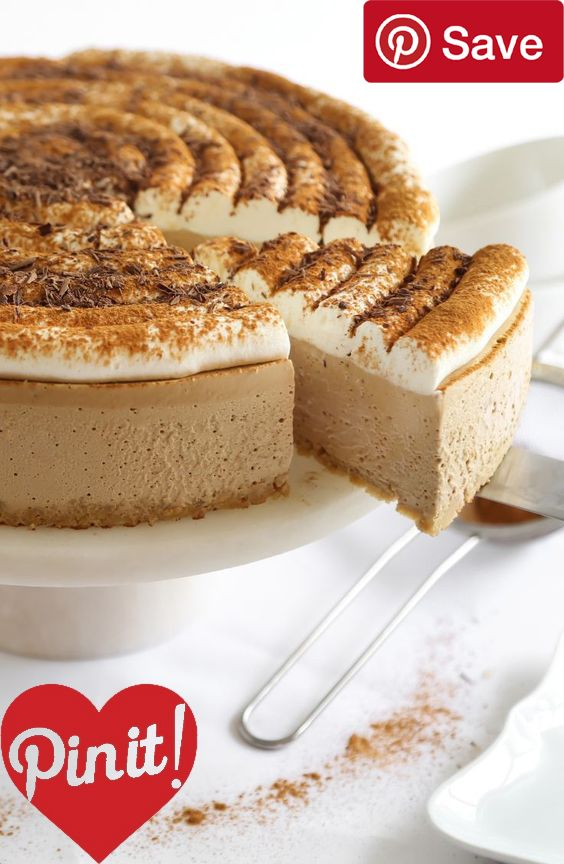 DIY Cappuccino Cheesecake - Ingredients  Baking & Spices  1 Cinnamon   cup Sugar  2 tsp Vanilla extract  2 cups Whipped cream  Snacks  1 cup Shortbread cookies  Drinks  3 tbsp Espresso instant powder  Dairy  4 tbsp Butter unsalted  24 oz Cream cheese  8 oz Sour cream   cup Whole milk  Desserts   oz Gelatin unflavored powdered #delicious #diy #Easy #food #love #recipe #recipes #tutorial #yummy @ICookUEat - Make sure to follow @ICookUEat cause we post alot of food recipes and DIY we post Food…