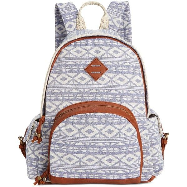 Madden Girl Brecess Backpack ($54) ❤ liked on Polyvore featuring bags, backpacks, blue aztec, knapsack bags, pocket bag, madden girl bags, madden girl and aztec pattern backpack
