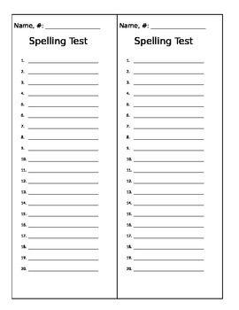 Best 25+ Spelling test template ideas on Pinterest