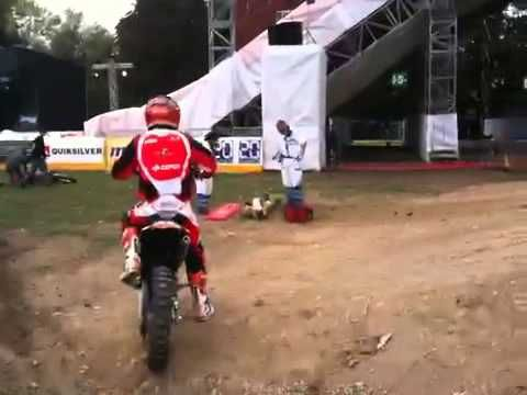 Crazy Dirt Bike Stunt Ends Up In An Accident